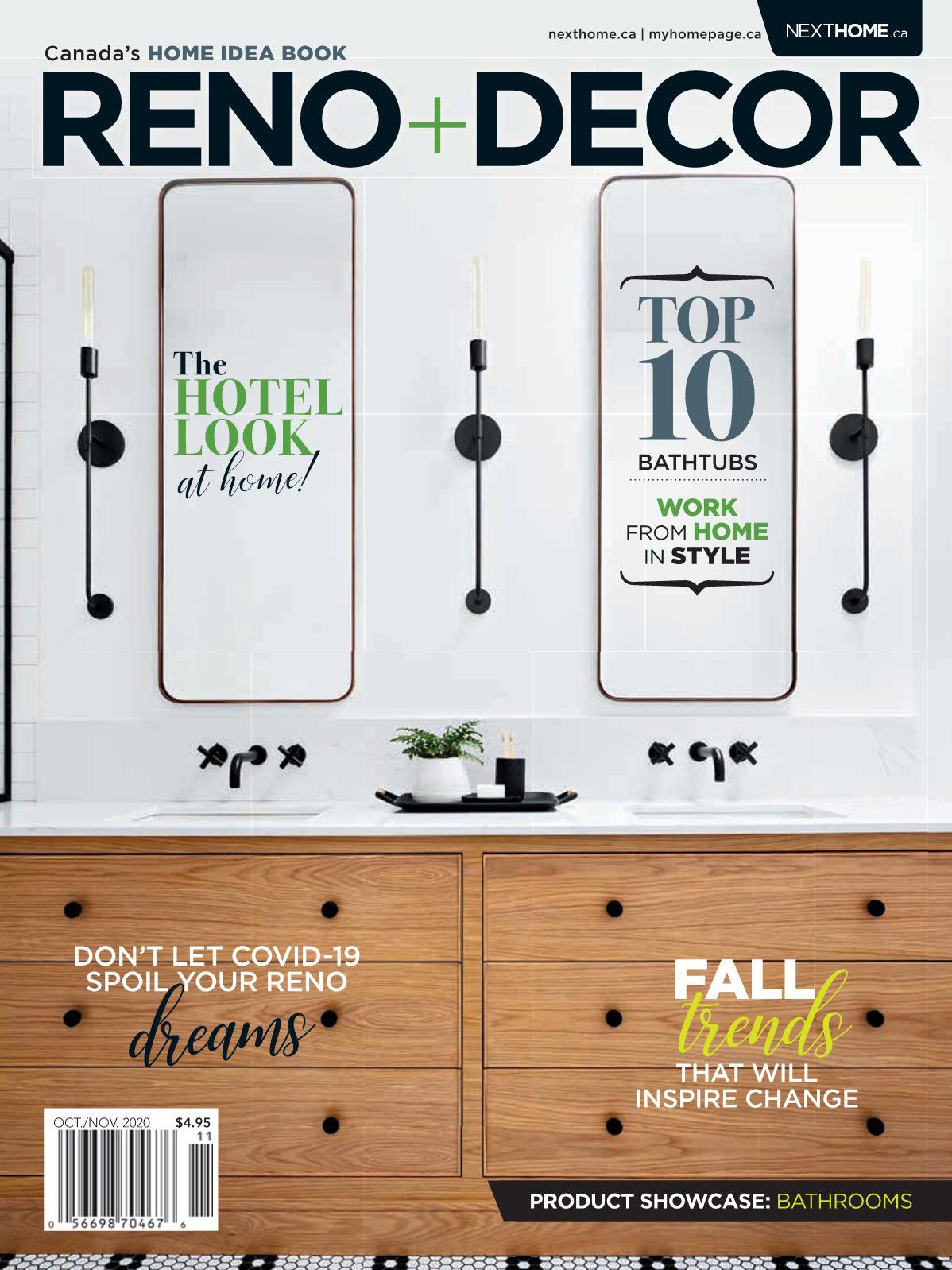 《Reno & Decor》加拿大版室内装饰设计杂志2020年10月-11月号