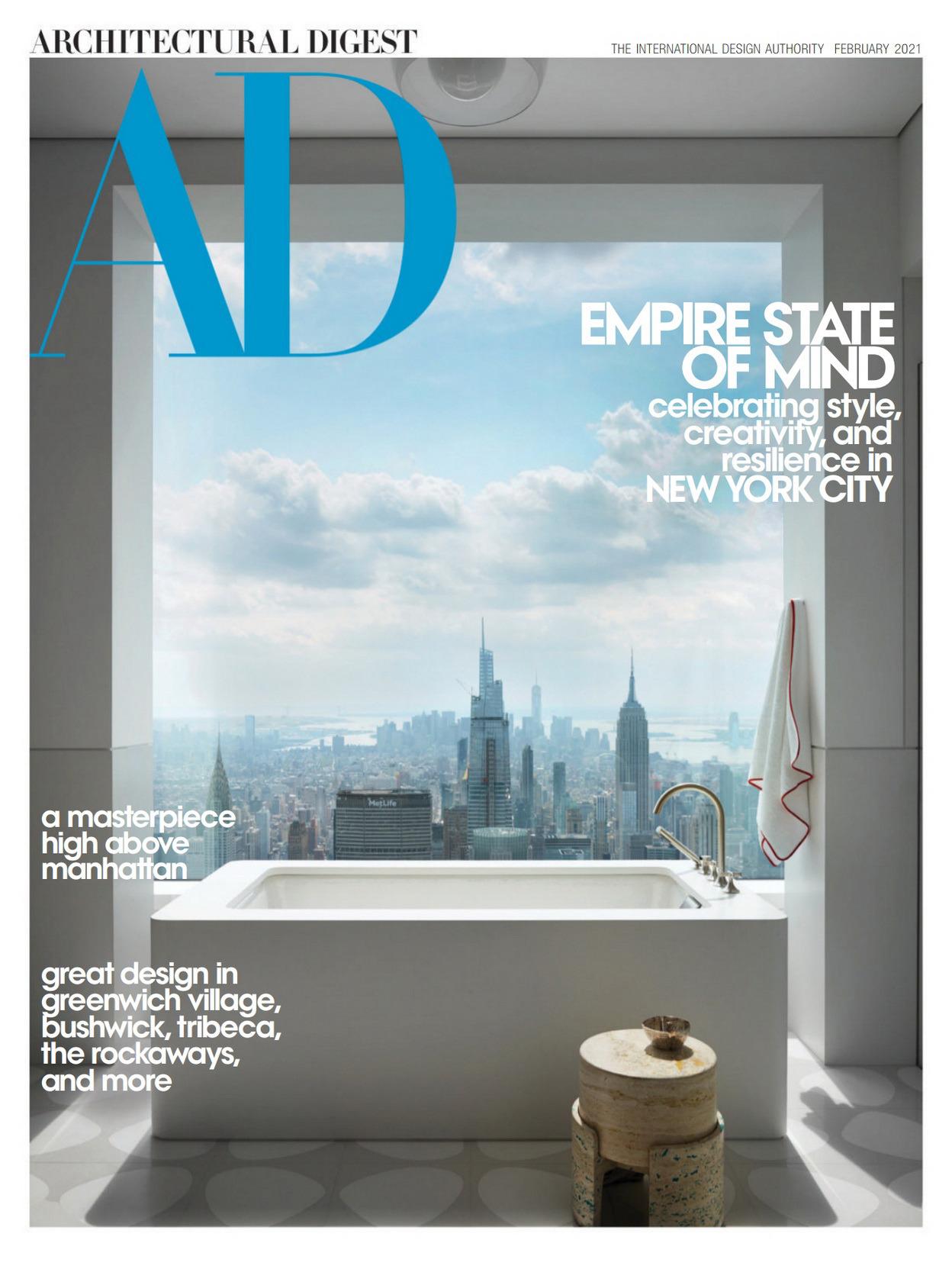 《AD》美国版室内室外设计杂志2021年02月号