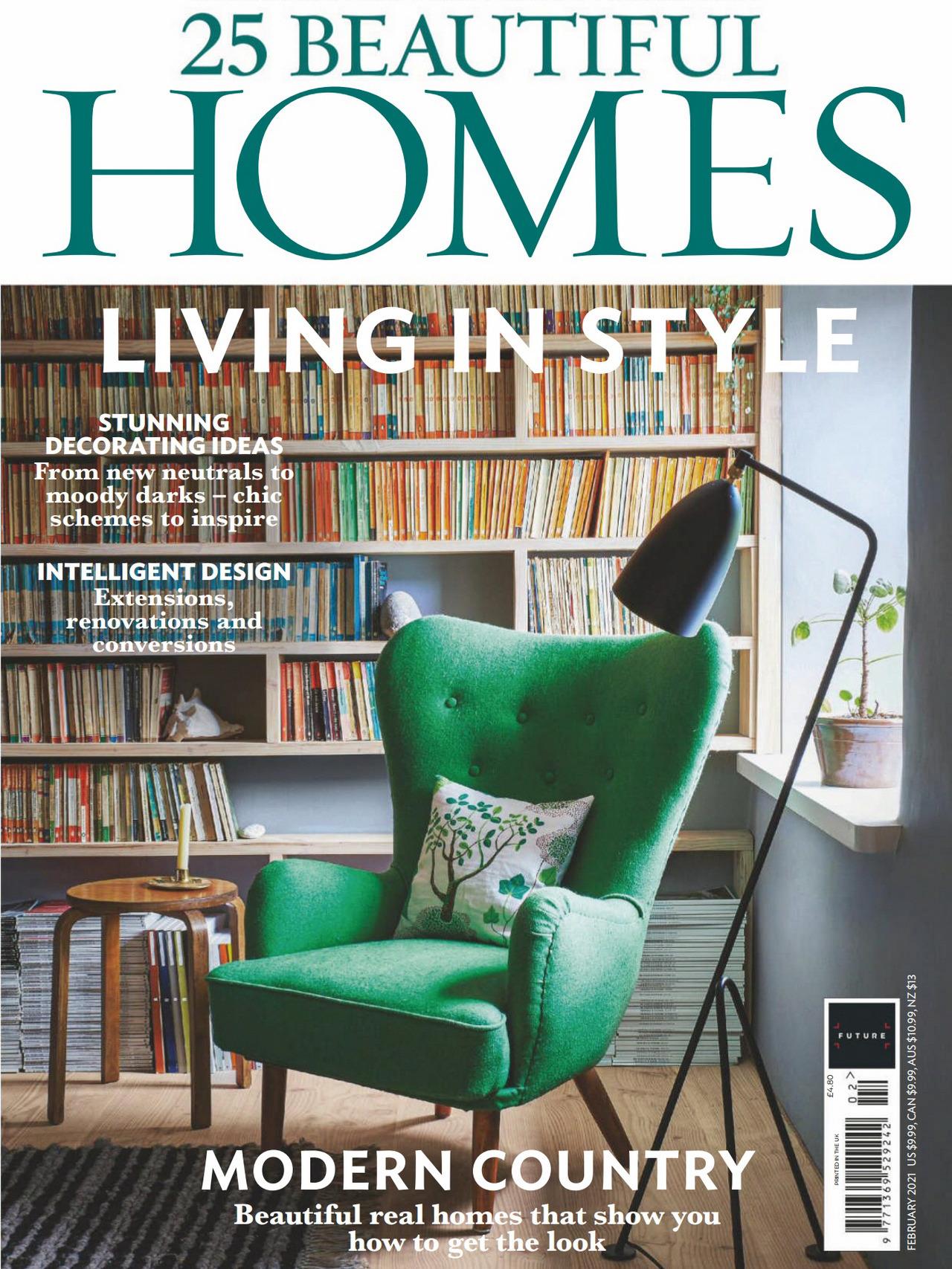 《25 Beautiful Homes》英国版时尚家居设计杂志2021年02号