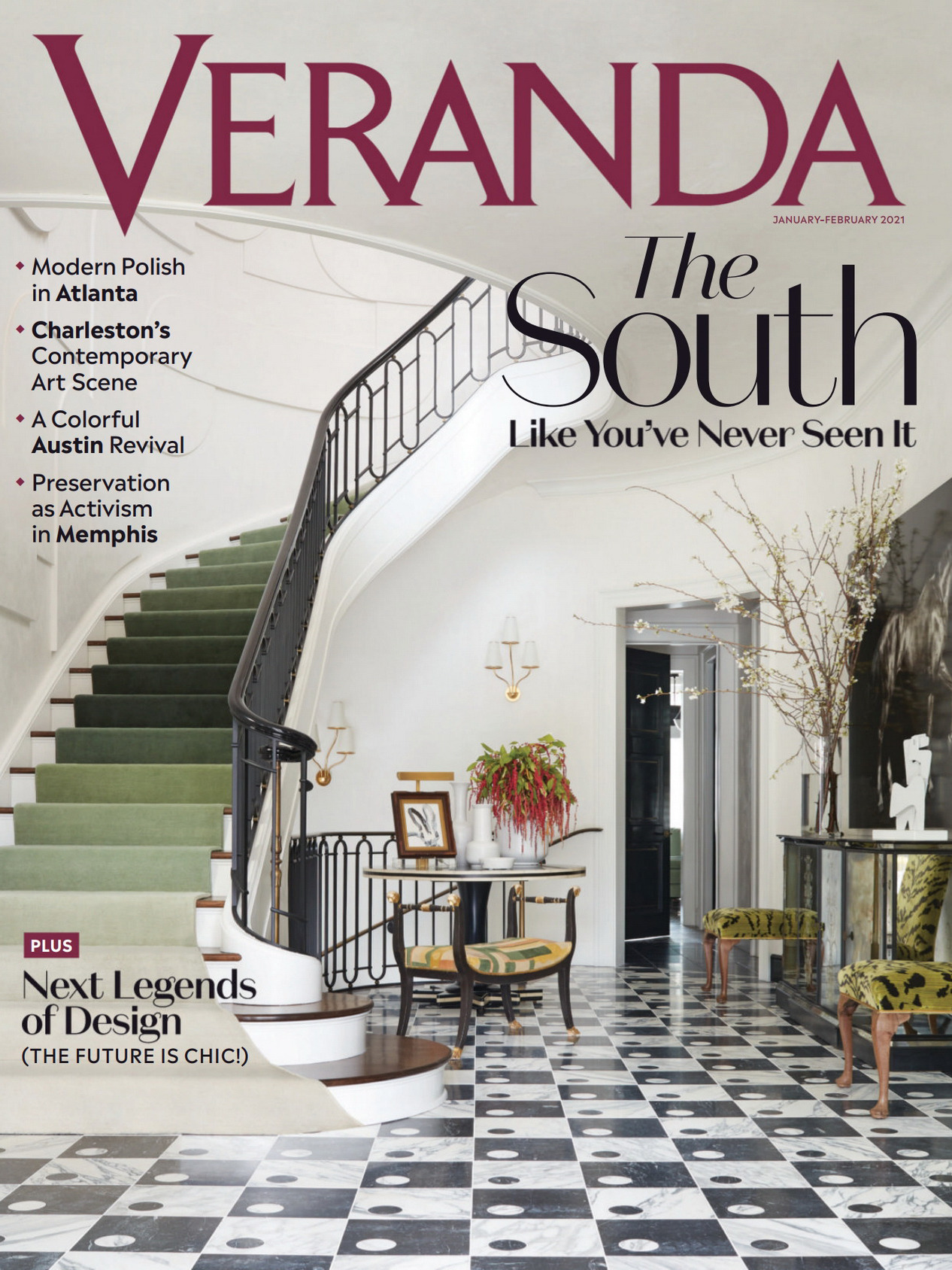 《VERANDA》美国家纺杂志2021年01-02月号