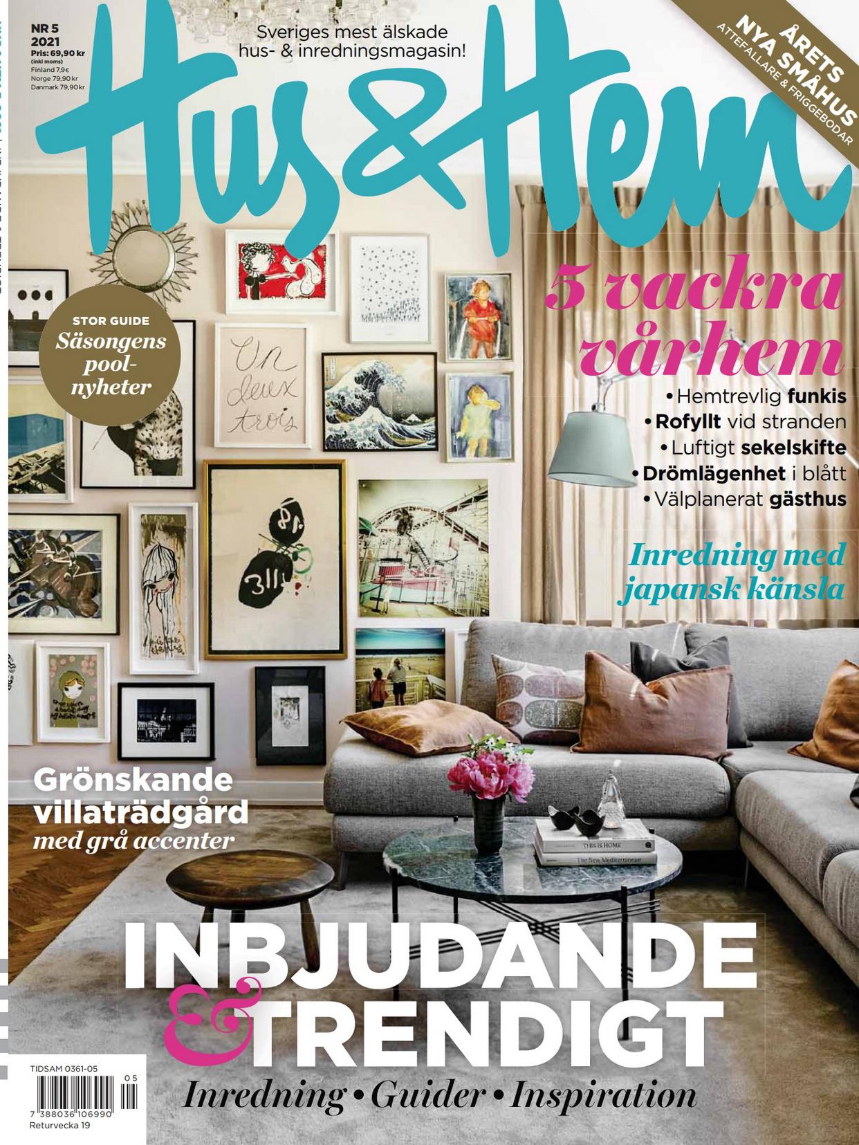 《Hus & Hem》瑞典室内设计趋势杂志2021年05月号