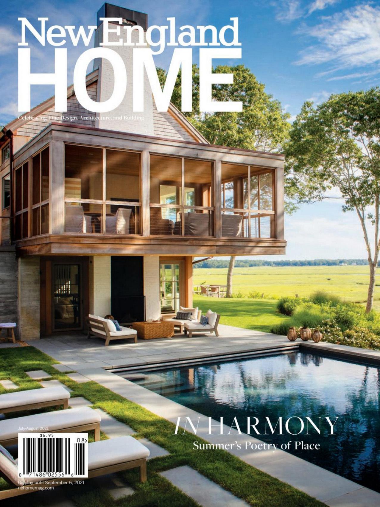 《New England Home》美国室内时尚杂志2021年07-08月号
