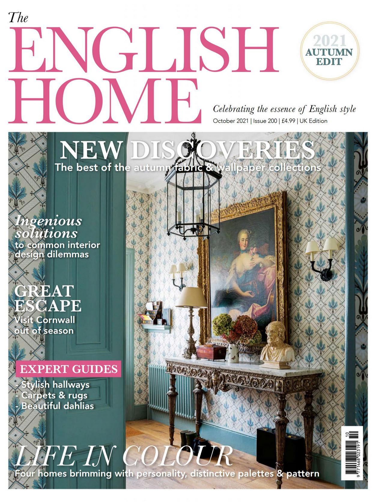 《The English Home》英国版时尚家居杂志2021年10月号